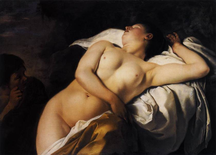 Sleeping Nymph and Shepherd By Jan Gerritsz van bronschorst